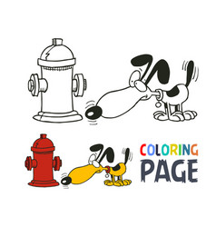 dog cartoon coloring page vector image