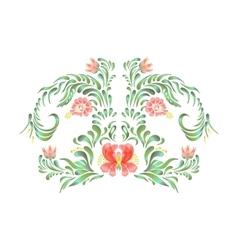 Elegant red floral frame vector image