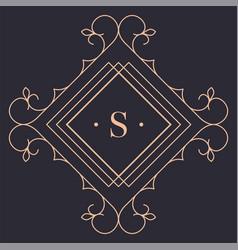 elegant retro logotype for luxury brand gold logo vector image