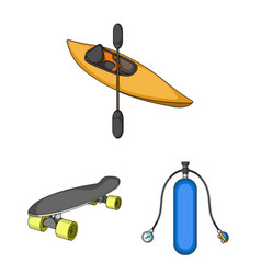Extreme sport cartoon icons in set collection for vector