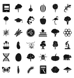 Faunistic icons set simple style vector
