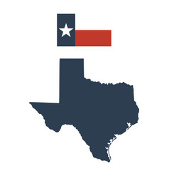 flag of the us state of texas and map vector image
