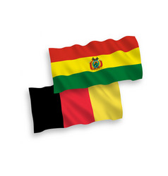 Flags belgium and bolivia on a white background vector