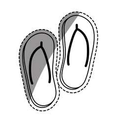 Flip flops beach sandals vector image