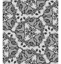 Floral seamless lace pattern vector