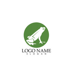 frog green symbols logo and template icons app vector image