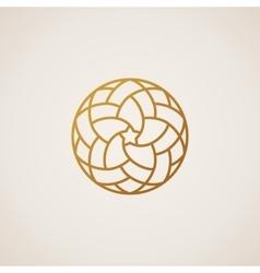 Geometric round Eastern star logo circular vector