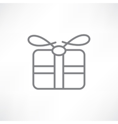 Gift in a box vector image