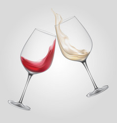 Glass alcohol wine cheers beverage party bar booze vector