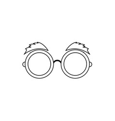 Glasses and eyebrows icon vector