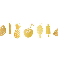 gold foil summer treats seamless repeating vector image
