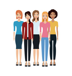 Group of women icon vector