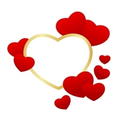 heart frame isolated vector image