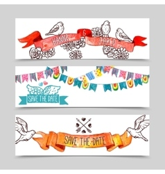 Holiday Banner Set vector image