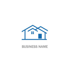 house architect company logo vector image