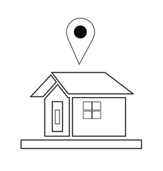 house icon with navigation logo vector image