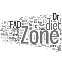 Is zone diet a fad vector