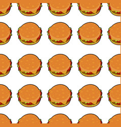Isolated of delicious burger vector