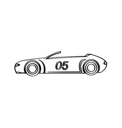 isolated racing car icon side view vector image