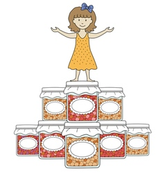 kids with jam 4 vector image