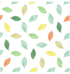 leaf seamless pattern fashion graphic background vector image