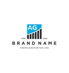 Letter ag chart financial logo design vector