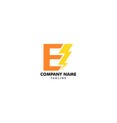letter e bolt logo symbol icon designs vector image