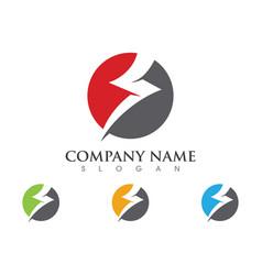 Lightning logo template icon design vector