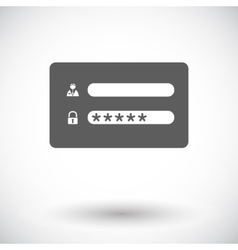Login vector image