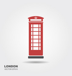 london telephone booth isolated on white vector image