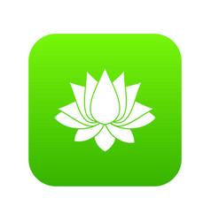 lotus icon digital green vector image