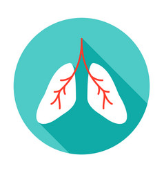 lungs circle icon vector image