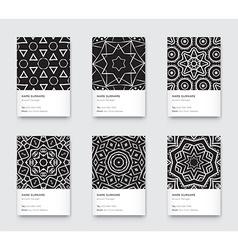Mandala Black and White Graphic Trendy Vertical vector