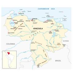 map bolivarian republic venezuela vector image