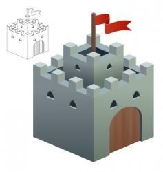 medieval castle or secure keep vector image