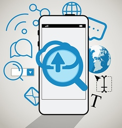 Modern smartphone interface vector image