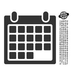 Month icon with job bonus vector