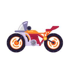 motorized bicycle orange scooter motorbike vector image