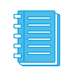 note book open vector image