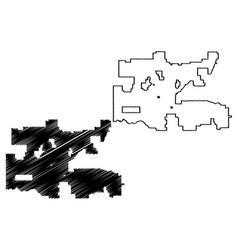 Oklahoma city map vector