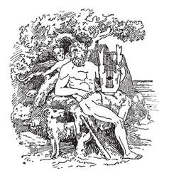 Polyphemus vintage vector