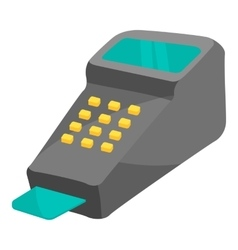 POS terminal icon cartoon style vector