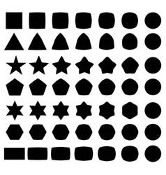 set geometric shapes elements for logo vector image