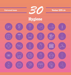 set line icons of hygiene vector image