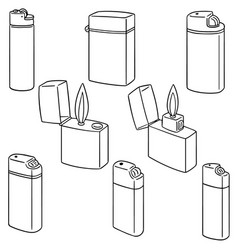 set of lighter vector image
