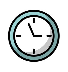 shadow clock cartoon vector image