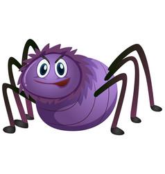 Spider in purple color vector