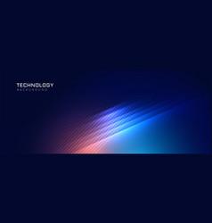 Stylish blue technology lights background vector
