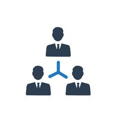 Teamwork icon vector