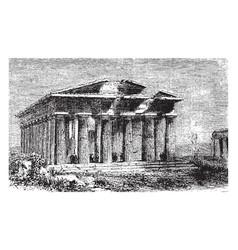 temple neptune located in graeco-roman vector image
